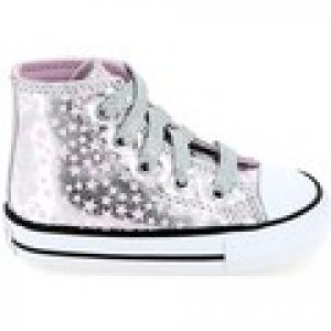 Hoge Sneakers Converse All Star Hi BB Argent Rose