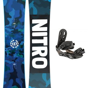Nitro Ripper 142 + Charger 2021 Snowboard Set patroon