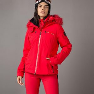 8848 - Blake - dames - wintersport jas - red - maat 42