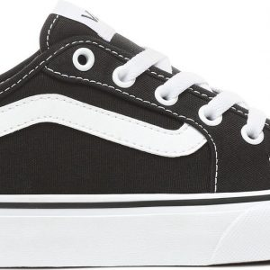 Vans Filmore Decon Canvas Dames Sneakers - Black/True White - Maat 39