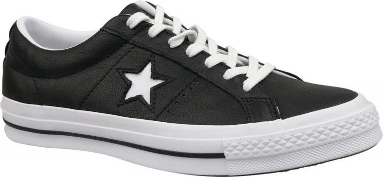 Converse One Star Ox 163385C, Mannen, Zwart, Sneakers maat: 42,5 EU