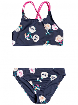Roxy Lets Get Salty Crop Top Bikini paars