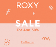 Roxy Winter sale tot 50% korting.